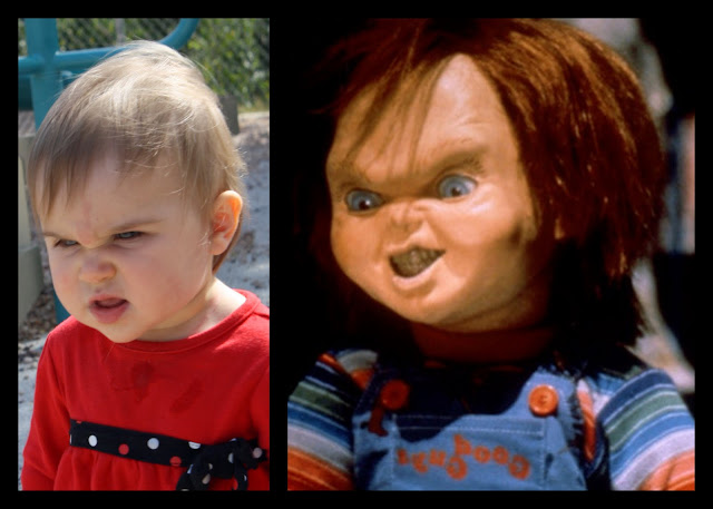 Lil Diva does perfect Chucky impersonation