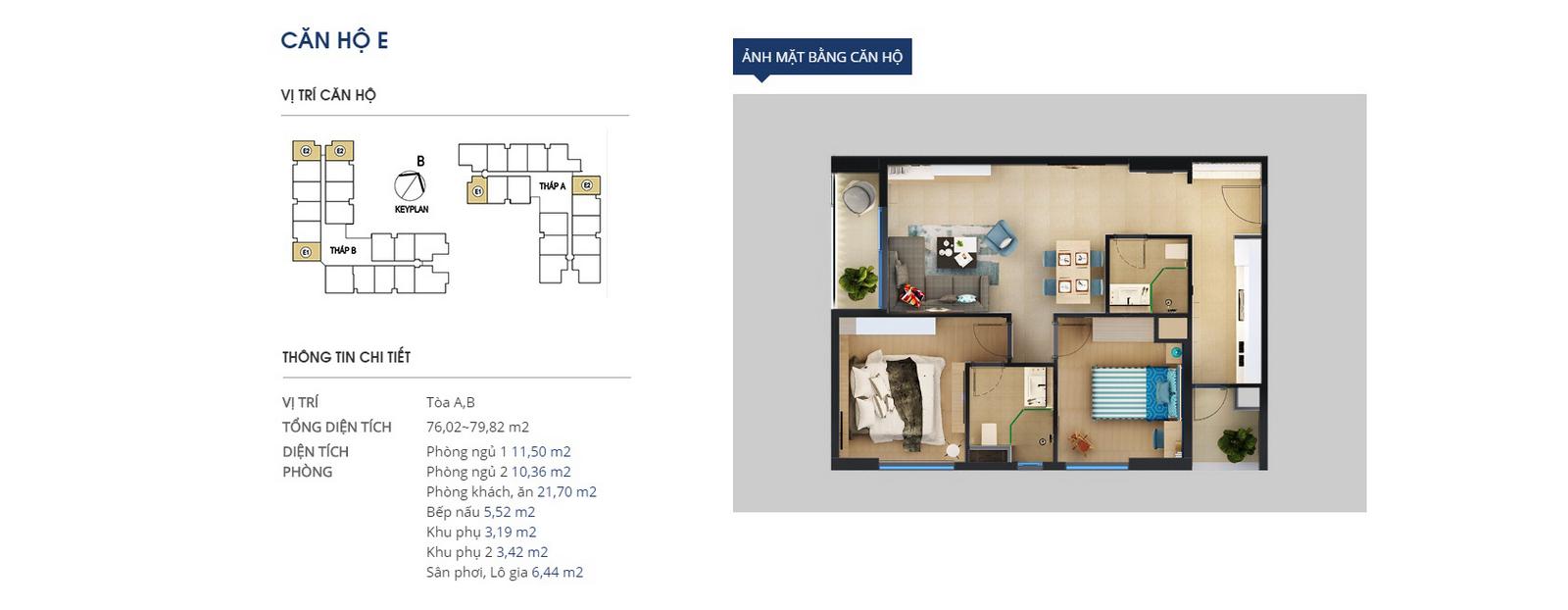 Căn E-chung cư HTV Complex