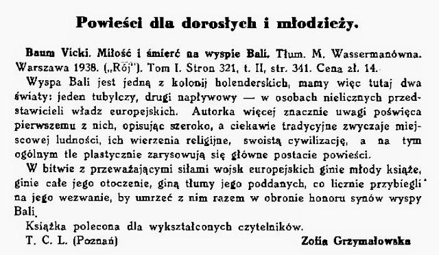 Nowośći ksiażkowe 1938.