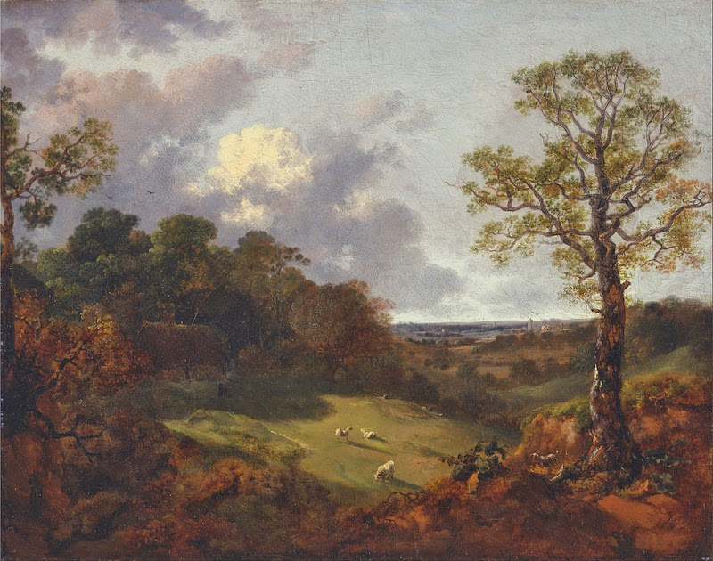 Thomas Gainsborough - Wooded Landscape with a Cottage and Shepherd