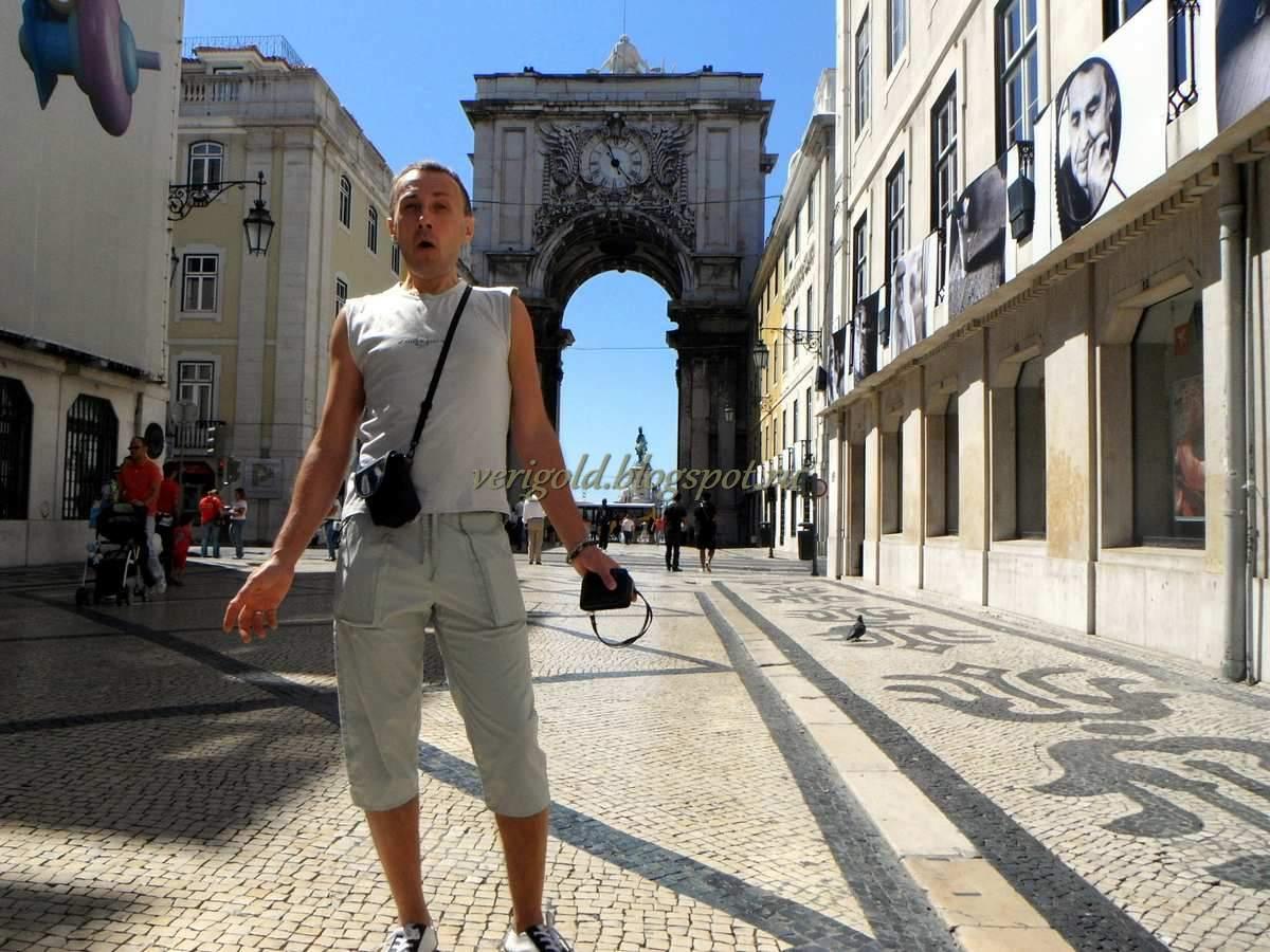 Руа Аугуста Триумфальная арка Лиссабон фото