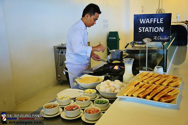 Waffle and Omelet Station