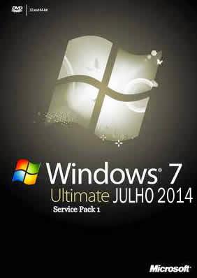 Windows 7 Ultimate SP1 JULHO 2014 Atualizado + Português BR - Torrent + Ativação  (64 Bits)