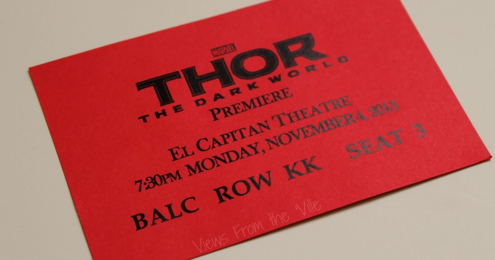 My Thor The Dark World Review & Red Carpet Experience: My Ticket #ThorDarkWorldEvent