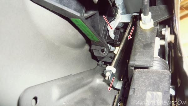 kedudukan slot handle pintu