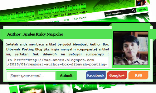 widget Author Box Blogger