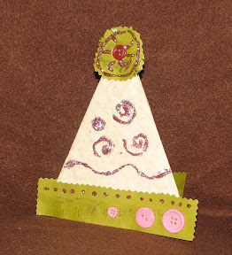 how to make a cone hat out of card