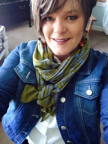 Fashion Friday, denim jacket and scarf