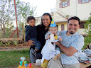 Matimu with our friend, Maria (from Ecuador), and her son Noah. They got Matimu a lot of great new clothes for his birthday.