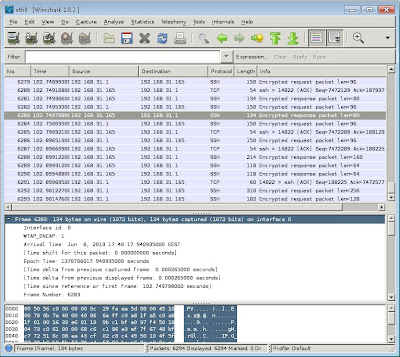 Instalar Wireshark en GNU Linux Ubuntu Server 13.04 y abrirlo en Windows con Xming y PuTTY