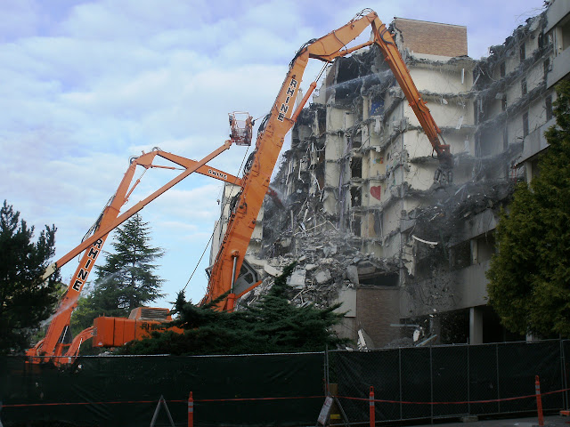 Lander Hall Demolition