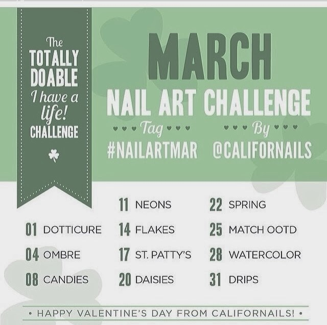 365 Days Of Nail Art March 2014: Once Upon A Manicure: March Nail Art Challenge