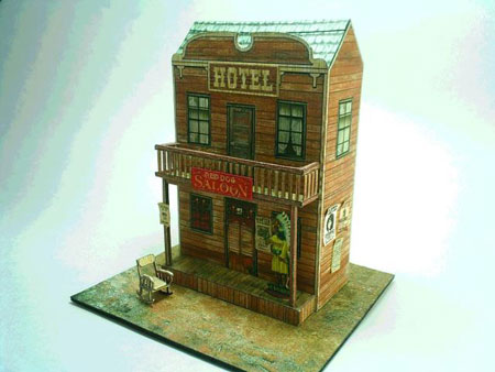 Red Dog Saloon Papercraft
