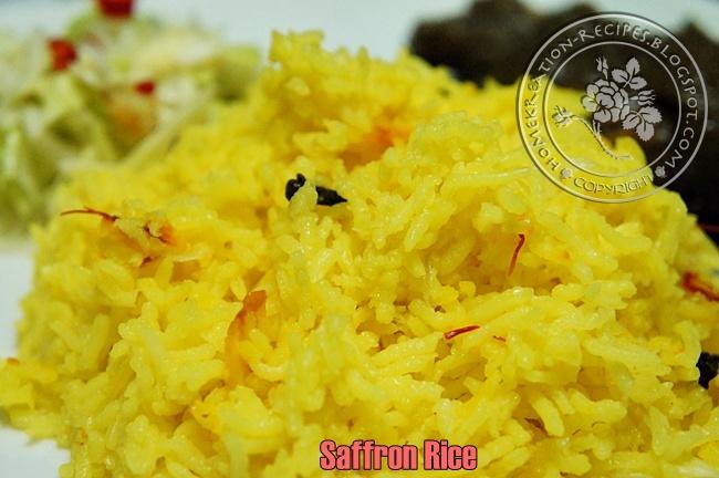 HomeKreation - Kitchen Corner: Saffron Rice (Nasi Saffron)