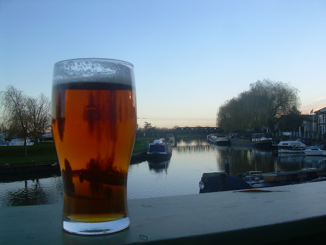 A pint of Adnams at the Cutter Inn, Ely