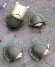 Adeptus Custode conversion shoulderpads