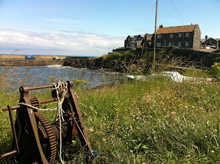 Craster Habour, walking the Northumberland Coast Path Stage 2