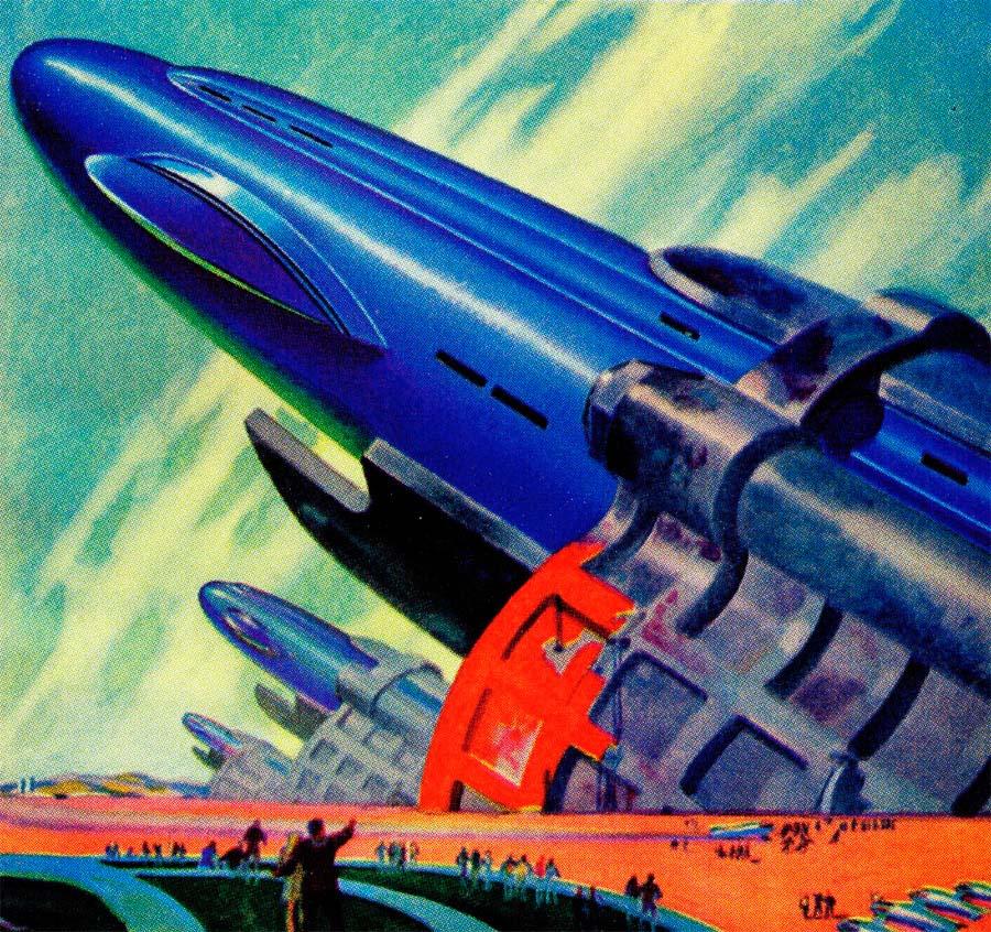 Vintage Science Fiction Wallpaper Google Search: Dark Roasted Blend: Rare & Wonderful 1950s Space Art