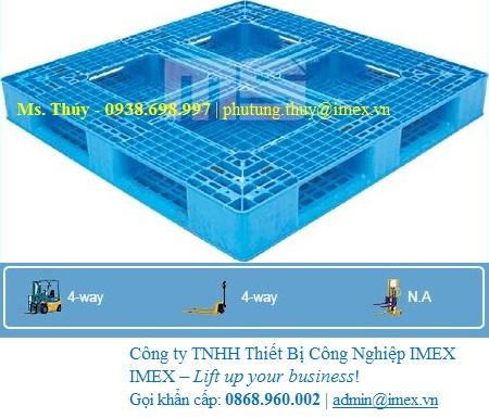 Pallet nhựa Malaysia nhập khẩu 1200 x 1200mm