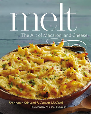 Book cover for Melt: the Art of Macaroni & Cheese cookbook