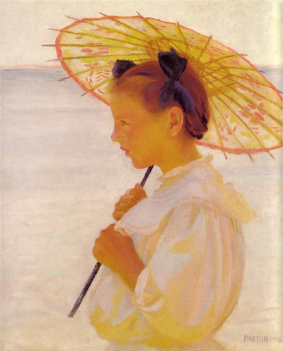 William McGregor Paxton - The Chinese Parasol