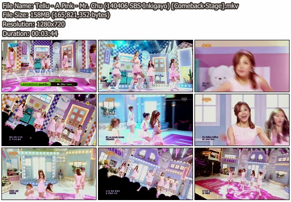 Download [Perf] A Pink – Mr  Chu @ SBS Inkigayo 140406 (Comeback Stage)