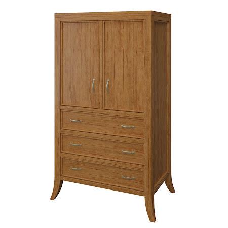 Strafford Armoire Dresser, Como Maple