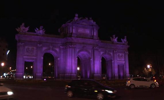 Nueva iluminación LED de la Puerta de Alcalá