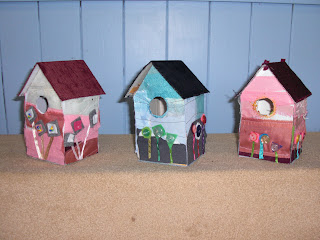 Mixed media Birdhouses