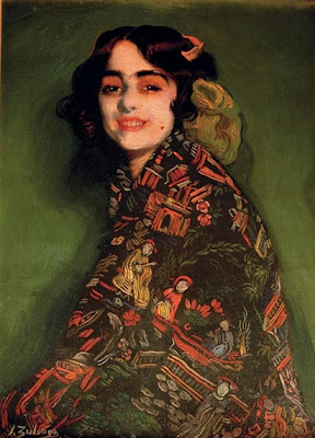 Ignacio Zuloaga - Candida with chinese shawl