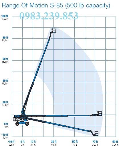 Telescopic Boom Lift Genie S-80 X và S-85