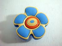 裝潢五金品名:S614-花型安全取手規格:單孔(43*43m/m)顏色:藍色玖品五金