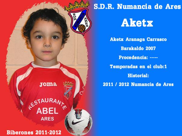 A. D. R. Numancia de Ares. Biberones 2011-2012. Eketx