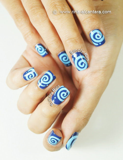 Round and Round Nail Art Design - Both Hands