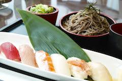 そば寿司セット(味噌汁付)