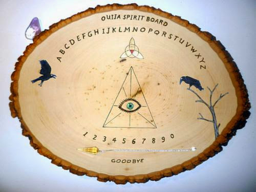 Handcrafted Wiccan Ouija Board And Pendulum Board By Witchstore