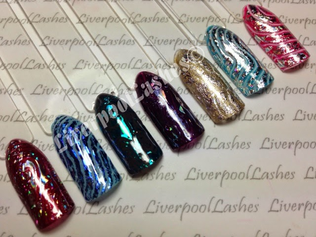 shellac patterned foil nails liverpoollashes liverpool lashes blogger