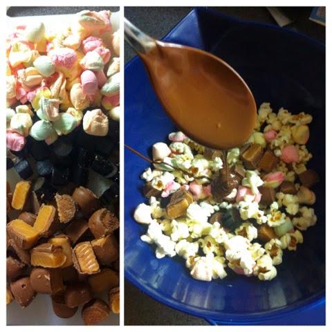 rockyroad, chocolate, rockyroadpopcorn, chocolatebars, popcorn, treat, toffee, dumle, marshmallows, chocolatetreat