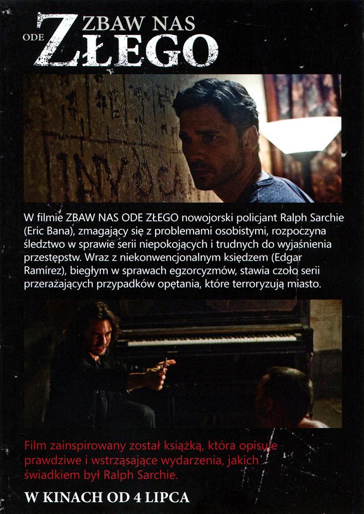 Ulotka filmu 'Zbaw Nas Ode Złego (tył)'
