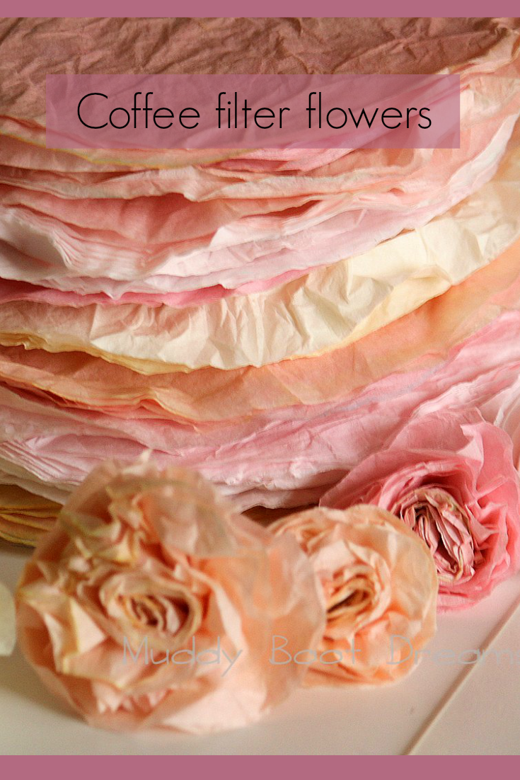 Paper flowers from Coffee filters