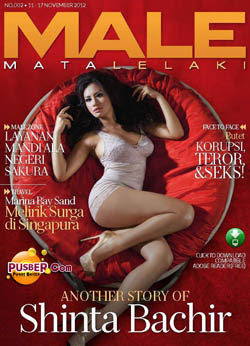 Majalah MALE Mata Lelaki Edisi Kedua, Download Majalah MALE Terbaru, Shinta Bachir