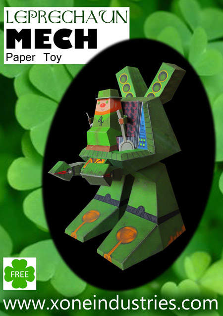 Leprechaun Mech Paper Toy
