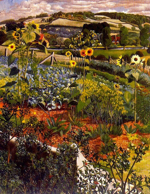 Stanley Spencer - Rowborough. Cookham., 1934