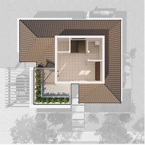 Thiết kế tầng 3 biệt thự vườn tùng ecopark