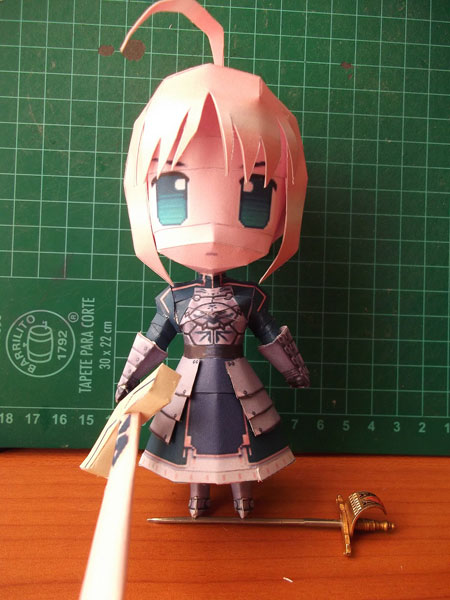 Fate Stay Night Chibi Saber Papercraft