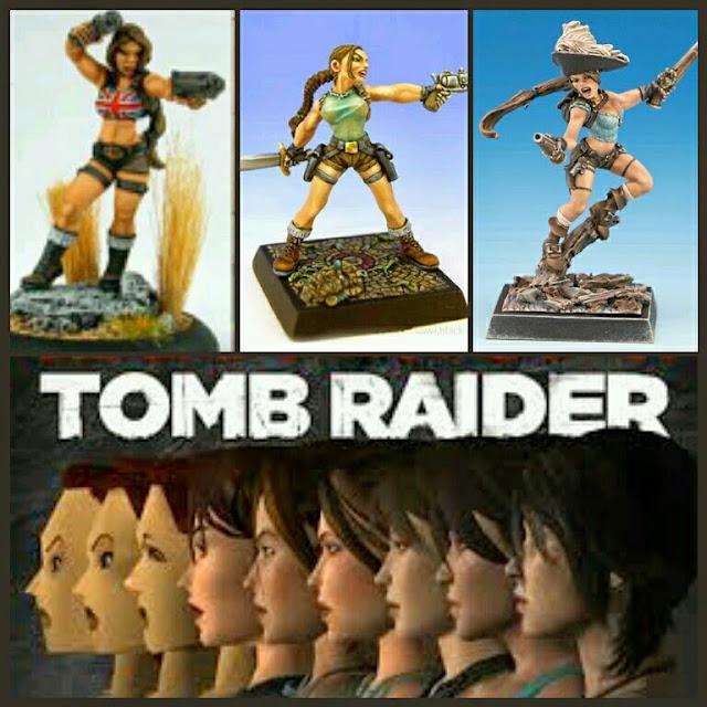 Lara Croft miniaturas