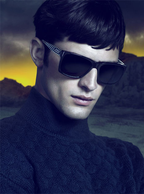 Sean O'Pry by Mart & Marcus for Versace Eyewear, F/W 2011-12
