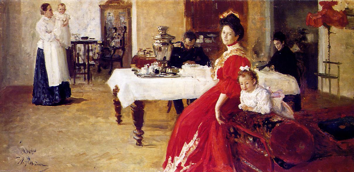 Ilia Repin - The artists family