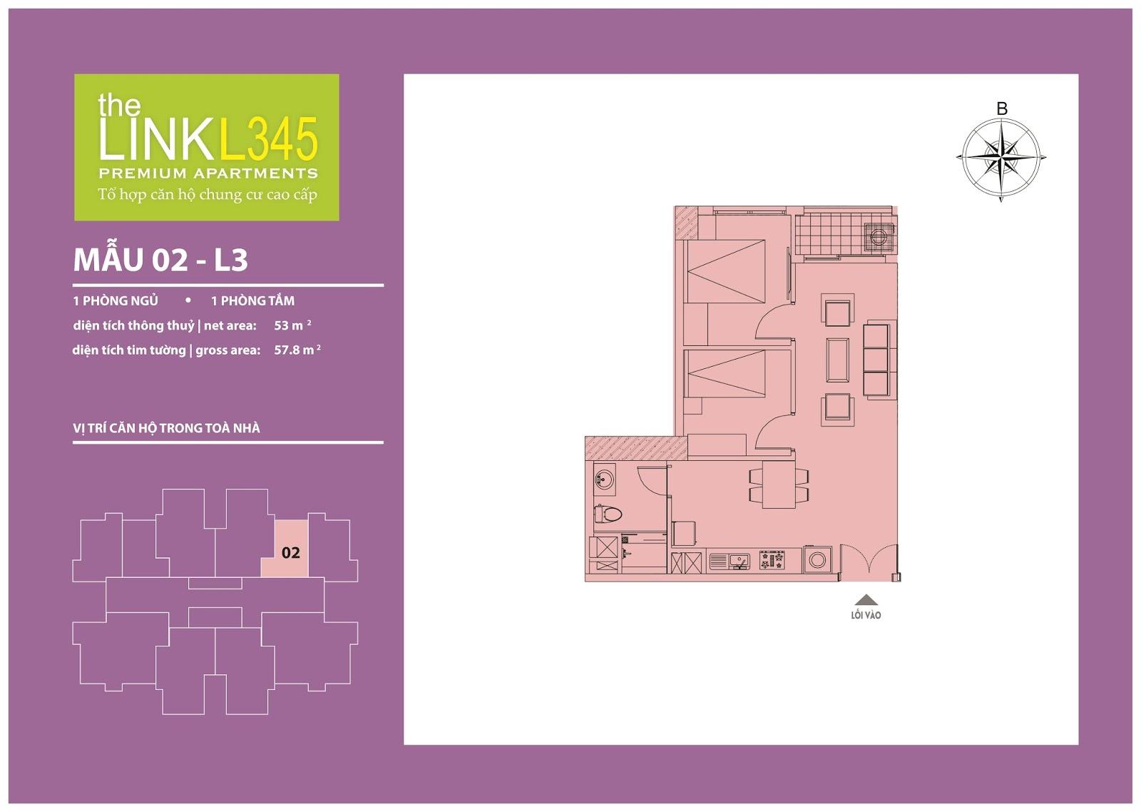 Mặt bằng chi tiết căn hộ 02 - L3
