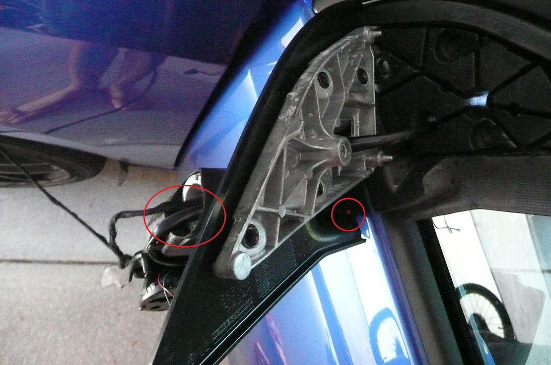 Diy Mirror Puddle Lights Warning Door Controllers For 2010 Jetta Rear Wiring Diagram Grab The End And Then Feed Up Into Hole Again Following Factory As Shown